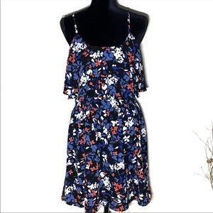 ELLE Floral Layered Tiered Bodice Sundress Sz L